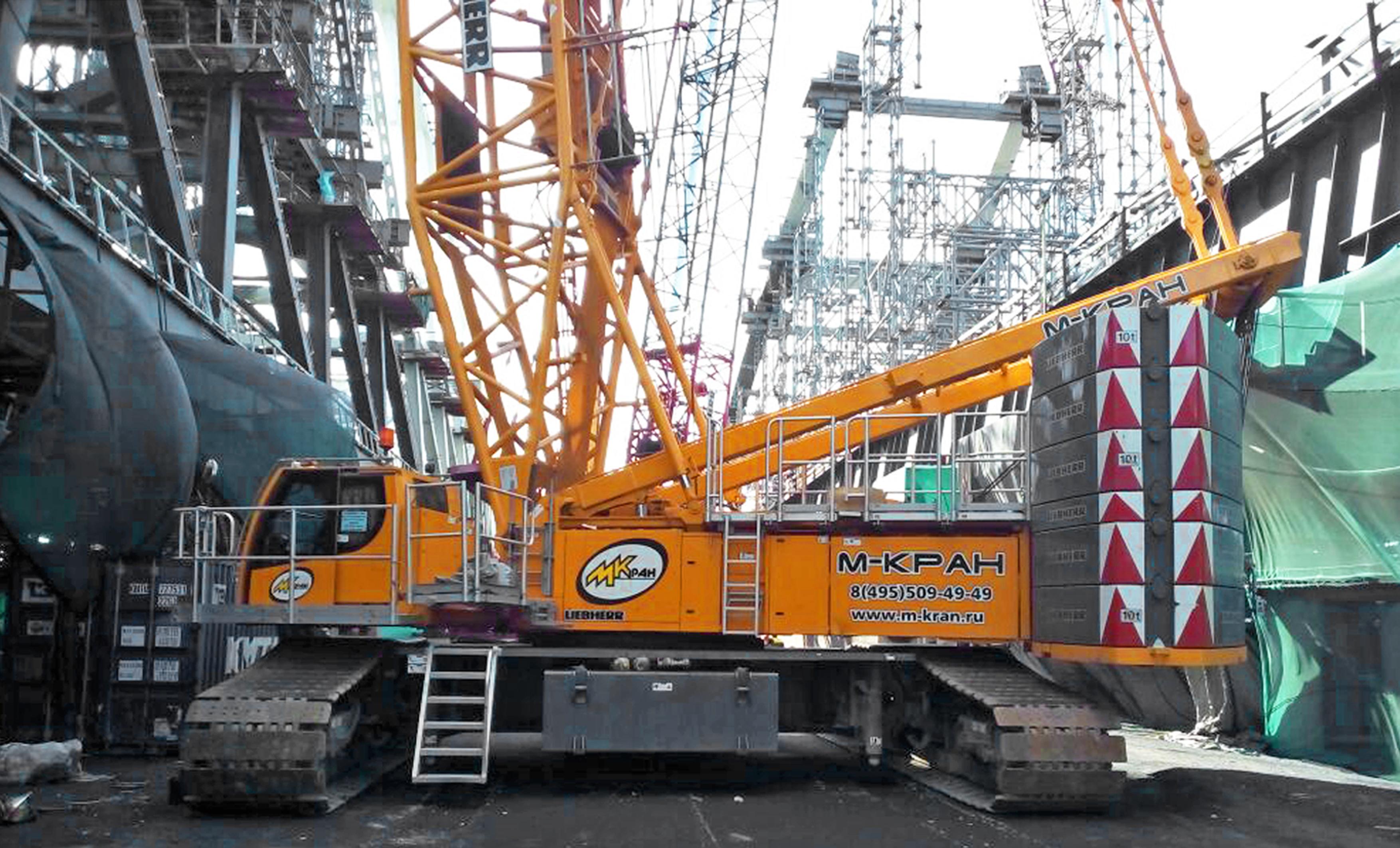 Аренда гусеничного крана 350 тонн Liebherr LR 1350/1