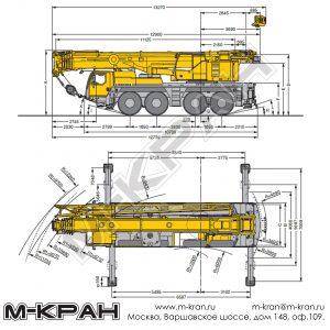 Габариты Liebherr LTM 1090-4.1