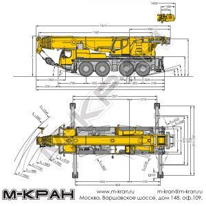 Габариты Liebherr LTM 1100-4.2