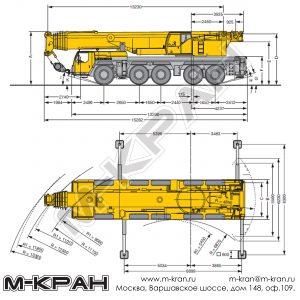 Габариты Liebherr LTM 1200-5.1