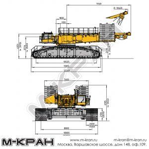 Габариты Liebherr LR 1750/2