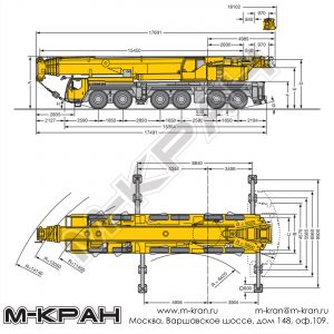 Габариты Liebherr LTM 1250-6.1