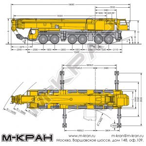 Габариты Liebherr LTM 1300-6.1