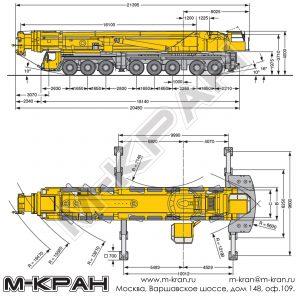Габариты Liebherr LTM 1500-8.1