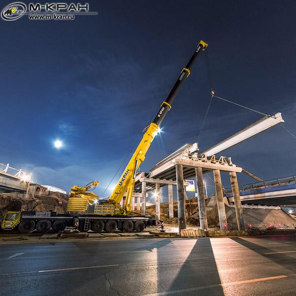 Строительство развязки МКАД-Можайское шоссе
