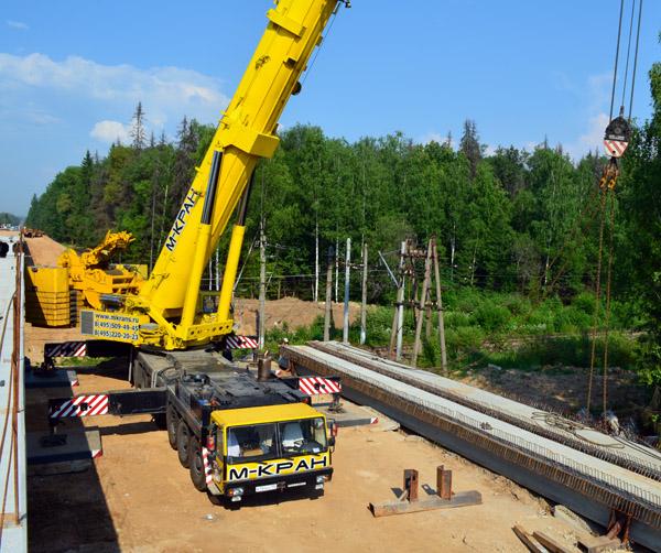 Строительство моста на развязке МКАД - Дмитровское шоссе