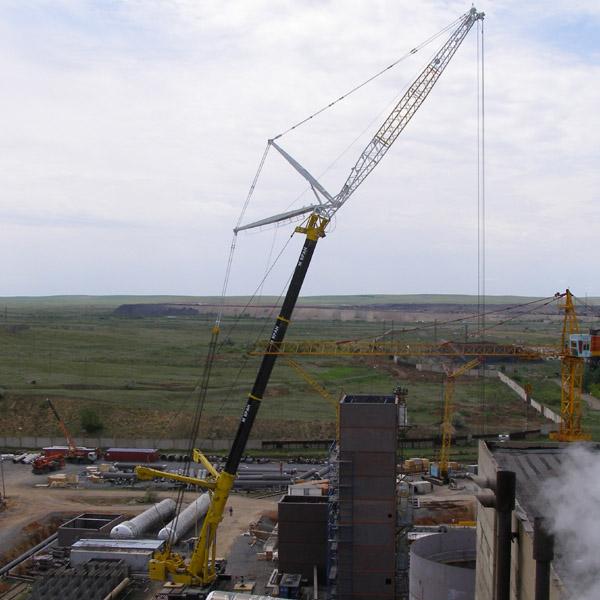 Строительство газоперерабатывающего завода автокраном Liebherr LTM 1500